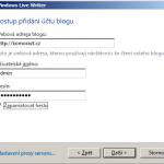 Vyplňte své uživatelské jméno a heslo (přinejmenším na prvotní zkoušení nechť máte roli administrátora)